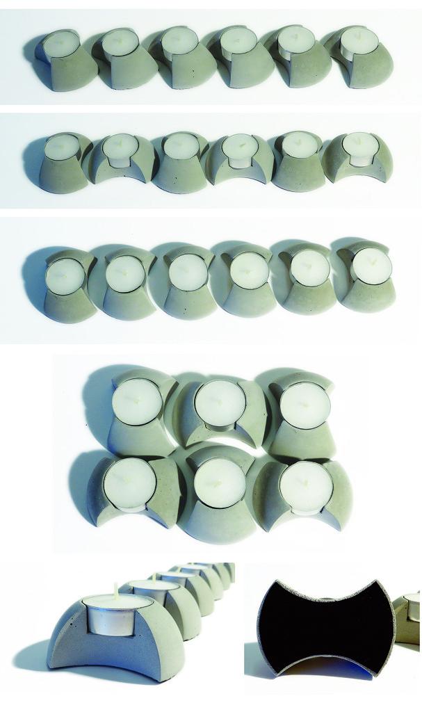 concrete candleholder giftbox