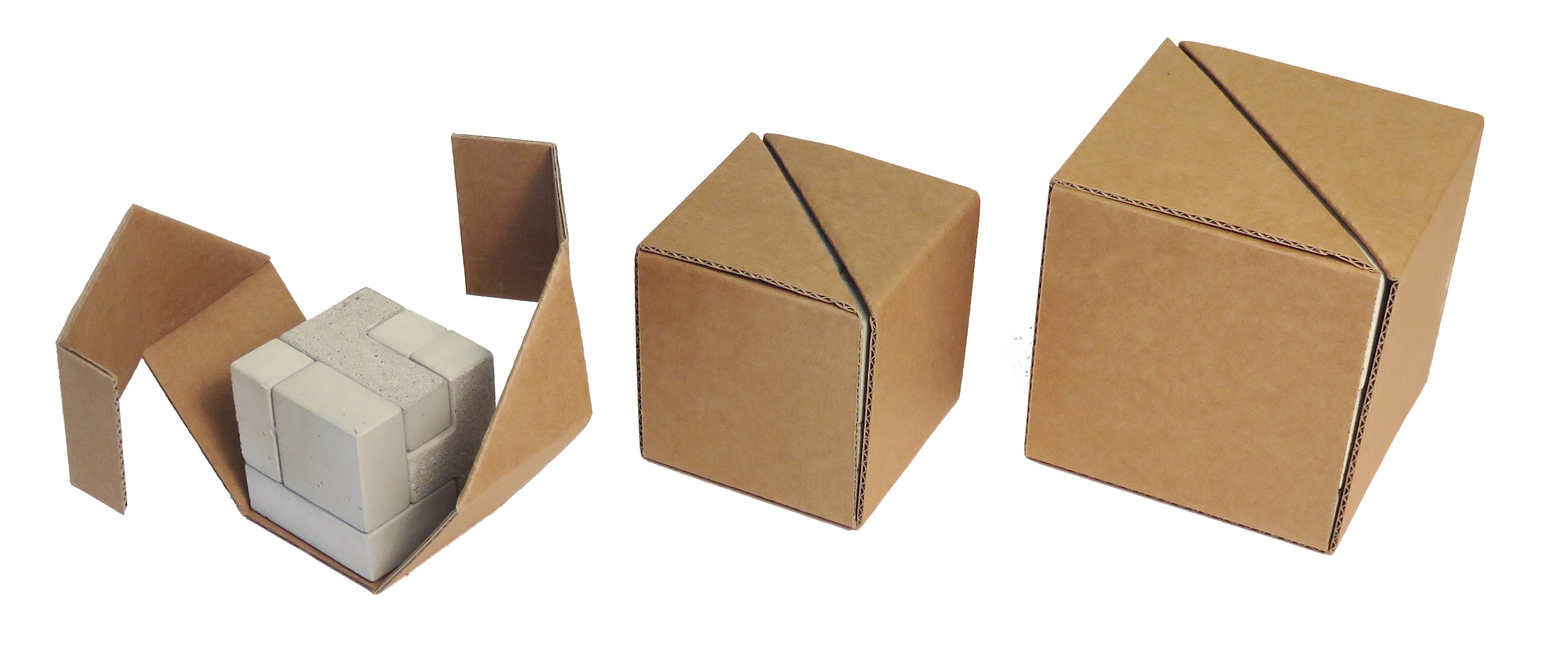 concrete puzzle Cube packaging