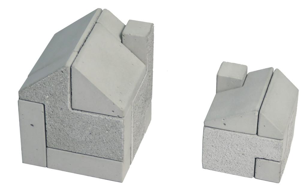 concrete puzzle house