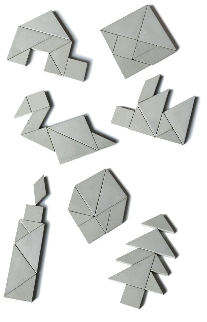 concrete puzzle Tangram solutions