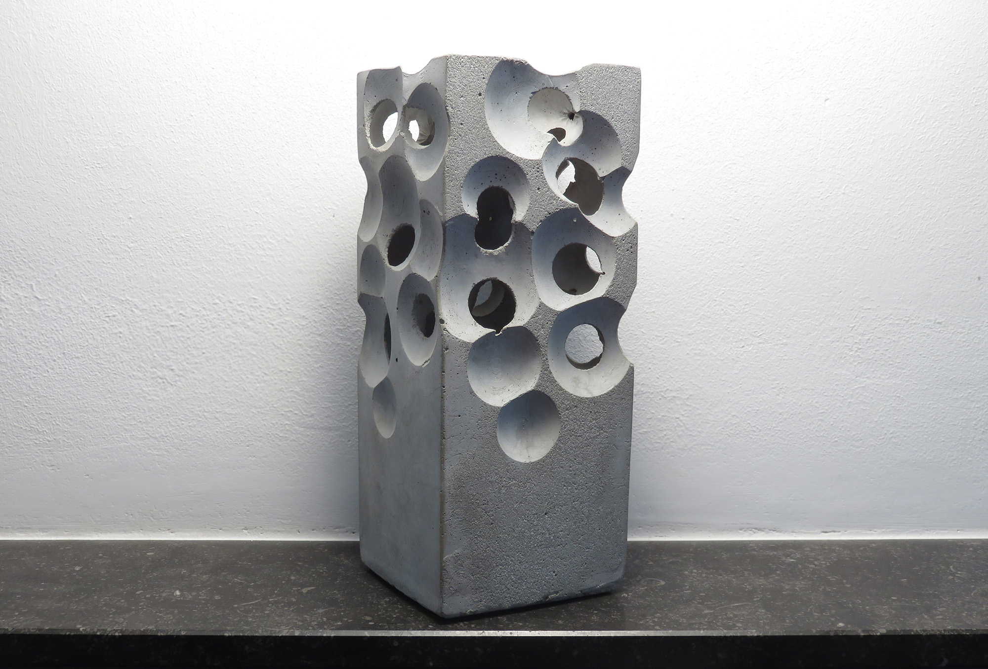 alien concrete block vase