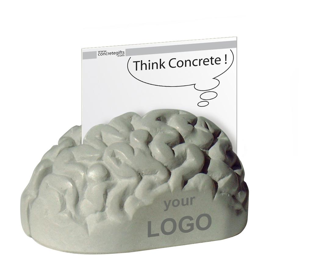 concrete brain 3d memoholder, brein beton memohouder