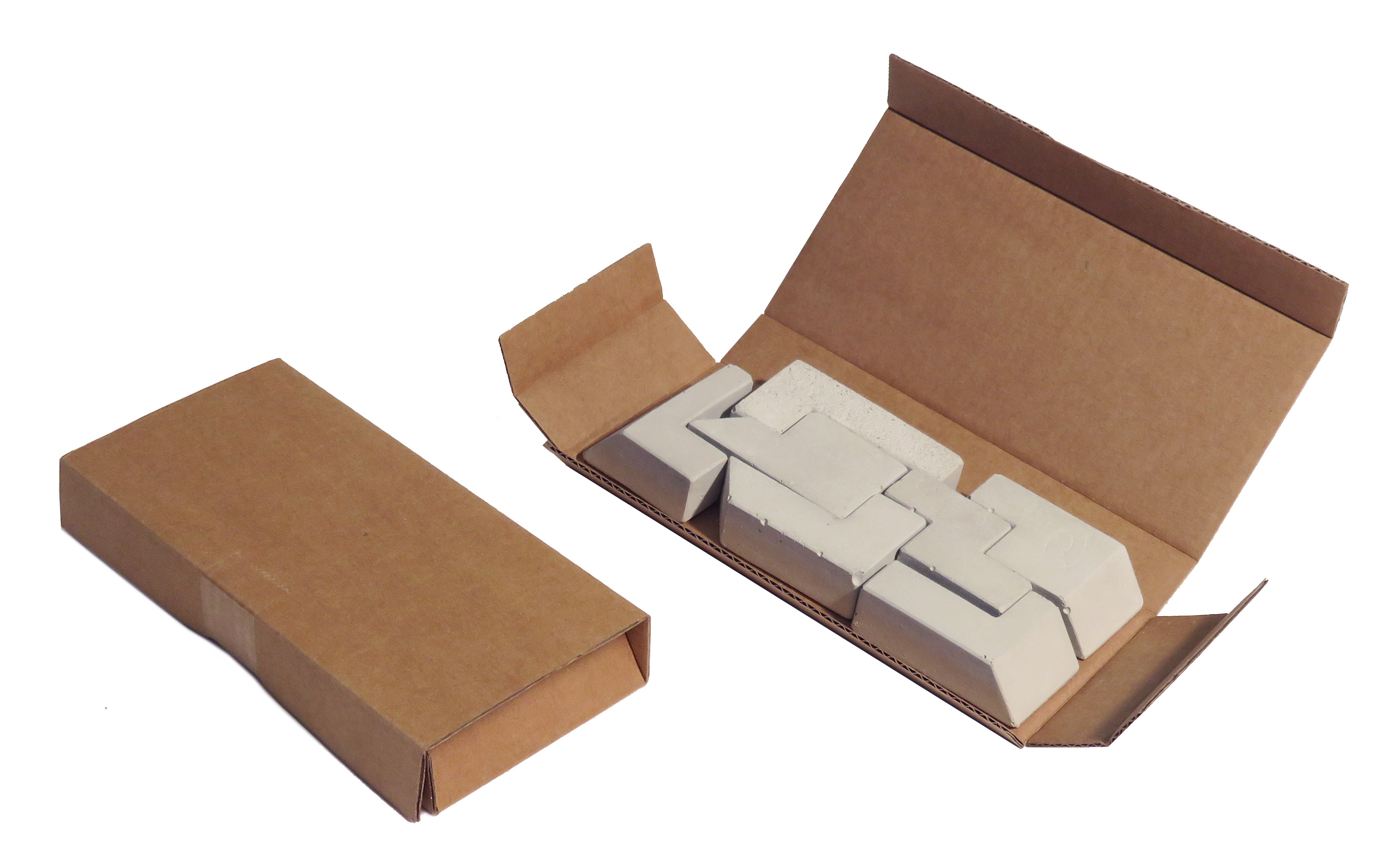 concrete puzzle factory packaging