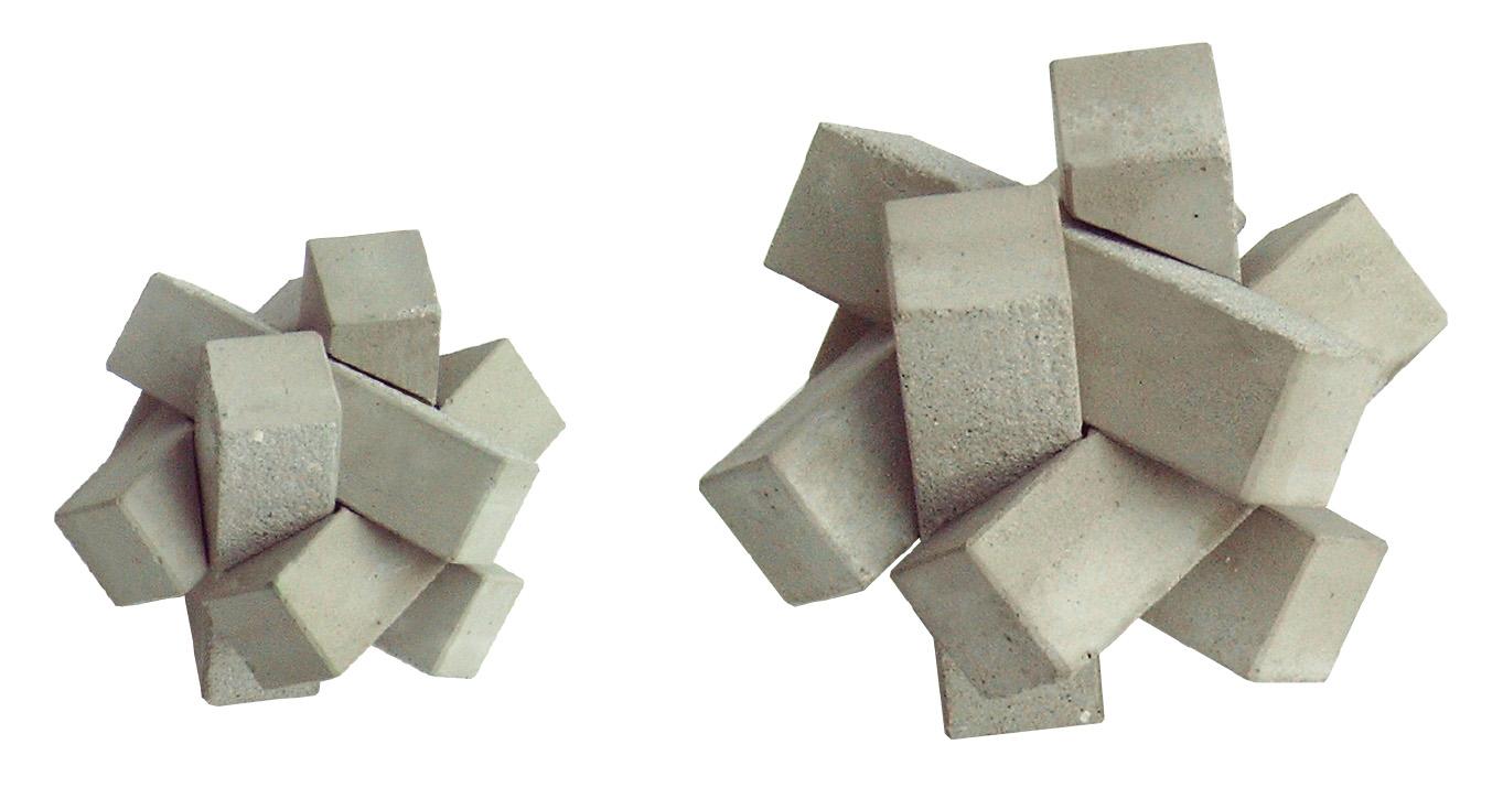 concrete puzzle Knot , Beton Puzzel knoop