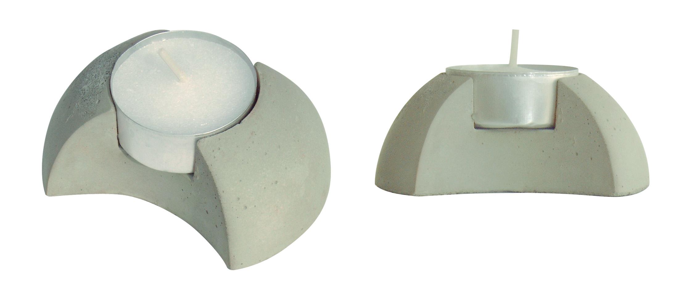 concrete candleholder sphere, theelichthouder van beton